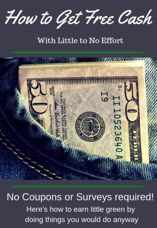 How to make free cash with little to no effort. No coupons and no surveys.