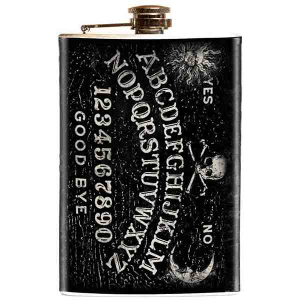This Ouija Board Flask is a great way to sneak a swig.