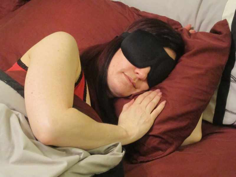While not necessary, I prefer to sleep with an eye mask which also helps pads in place if you often re-position them.