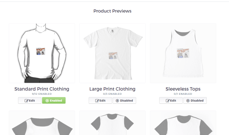 Using a small image on RedBubble