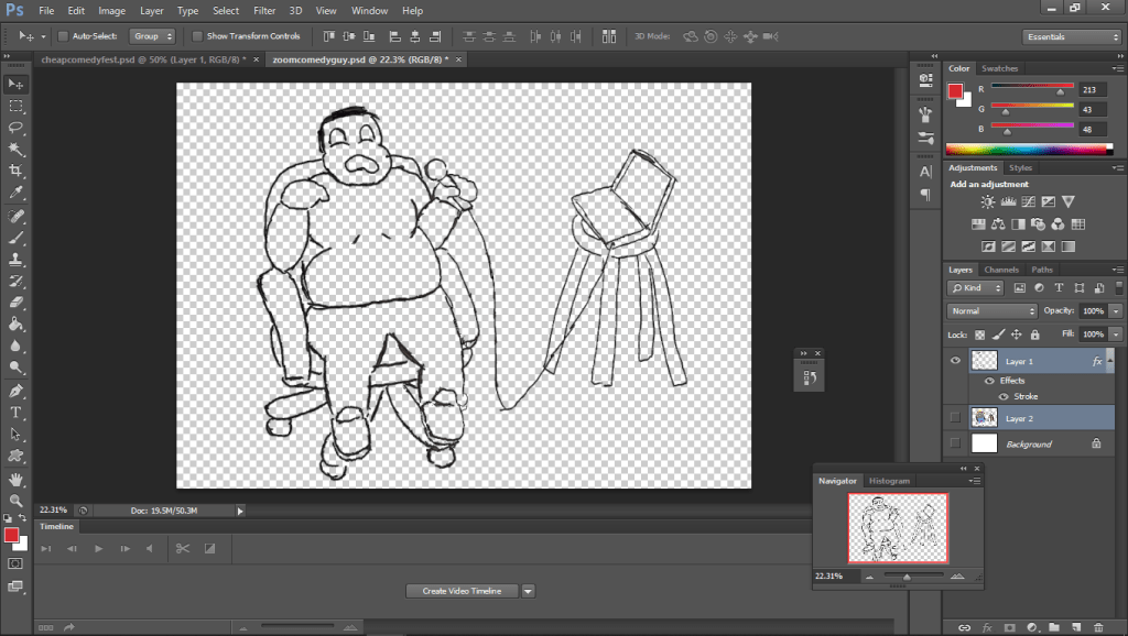Outline in photoshop