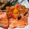 Tomato Mango Salsa with Grilled Salmon
