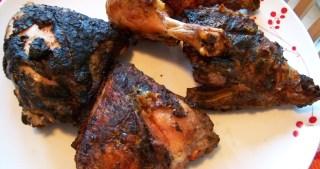 Barbecued lemon herb chicken