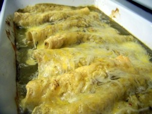 Turkey Enchiladas with Green Sauce