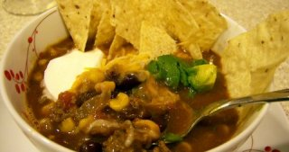 Taco Soup from the Freezer