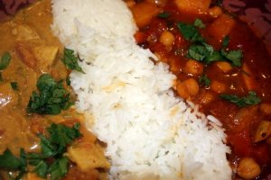 Chicken Curry and Vegetable Jalfrezi