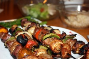 Beef and Vegetable Kebobs