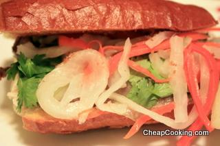banh mi style steak sandwich