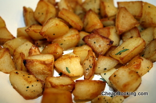 pan fried potatoes with garlic and sage