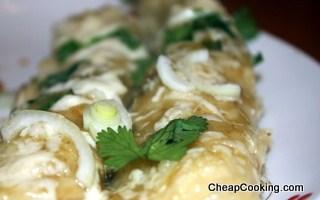 Chicken Enchiladas Verde for 4