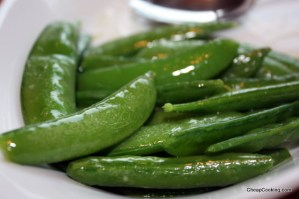 Sugar Snap Peas in Butter