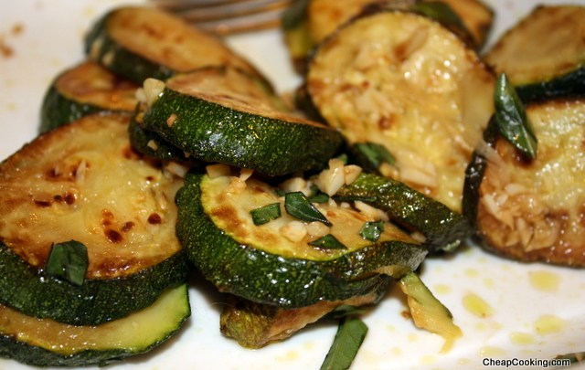 Basic Frittata and Marinated Zucchini