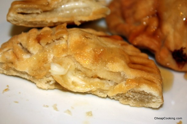 provolone turnovers with honey