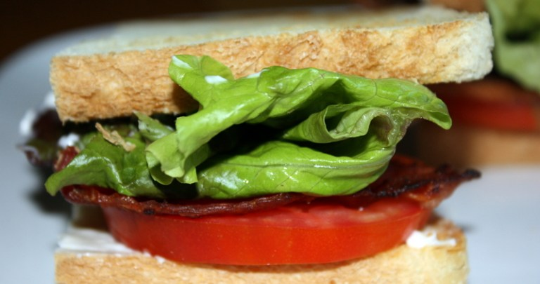 Bacon and Homegrown Tomato Sandwiches
