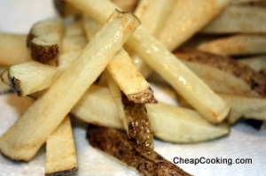 partially cooked french fries