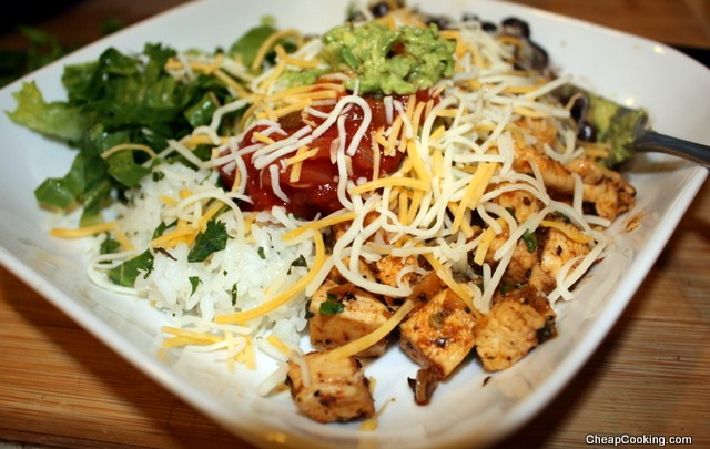 Burrito Bowl: Chicken, Rice, Beans and More
