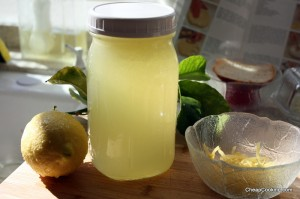 lemon juice and simple syrup