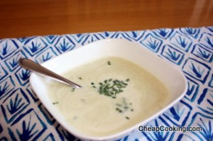 Vichyssoise or Cold Leek and Potato Soup