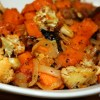 Roast Cauliflower and Sweet Potatoes