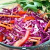 Red Cabbage Slaw with Lemon-Ginger Dressing