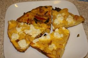 Bread, Pepper & Ricotta Frittata