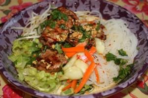 Vietnamese pork vermicelli bowl