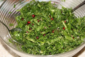 kale and pomegranate salad