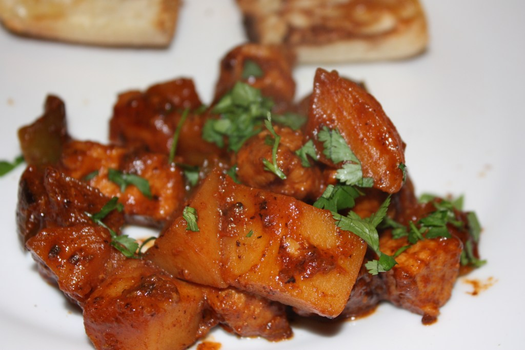 Pork Curry with Potato, Pepper and Apple