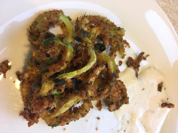 spiralized zucchini fries