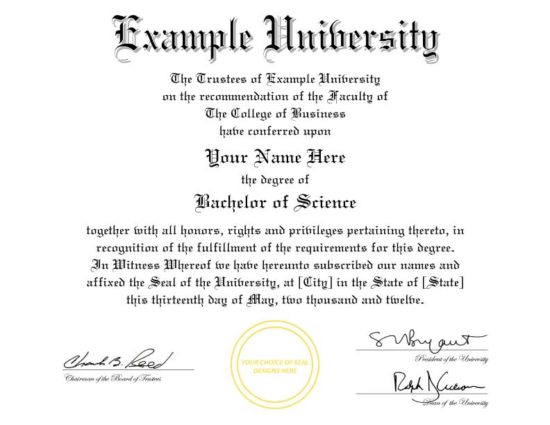 associates degree diploma template