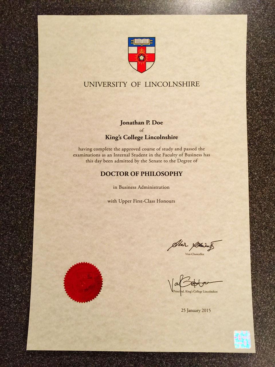 ukd02 11x17 fake uk diploma certificate