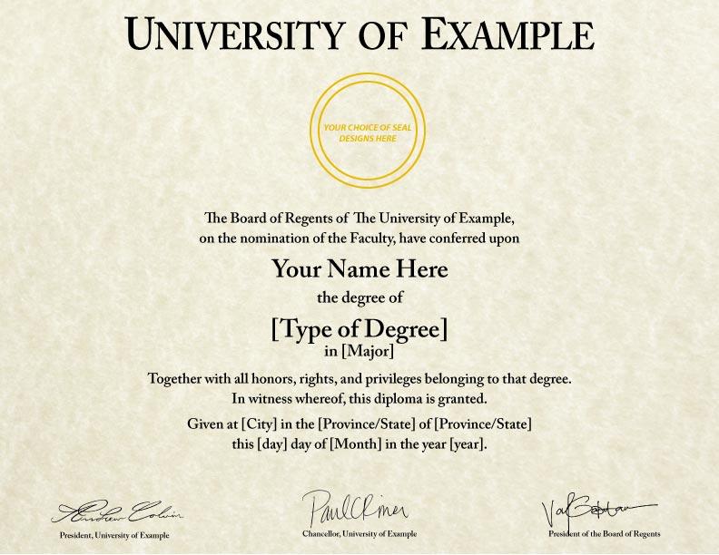 Fake Bachelor Degree Template | Fake Diplomas Certificates College University Replicas