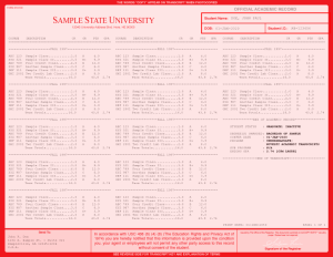 COLLEGE TRANSCRIPT TEMPLATE // T01-RED