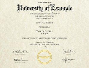 Fake Diploma Template // D-11 | Version 2