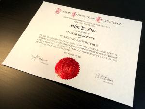 Fake MIT Diploma