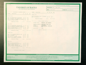 Fake University Transcript