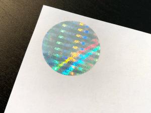 Fake Diploma Hologram - Round, Silver