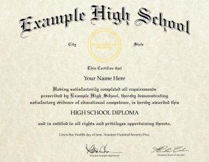 Fake High School Diploma Design (HS-D04)