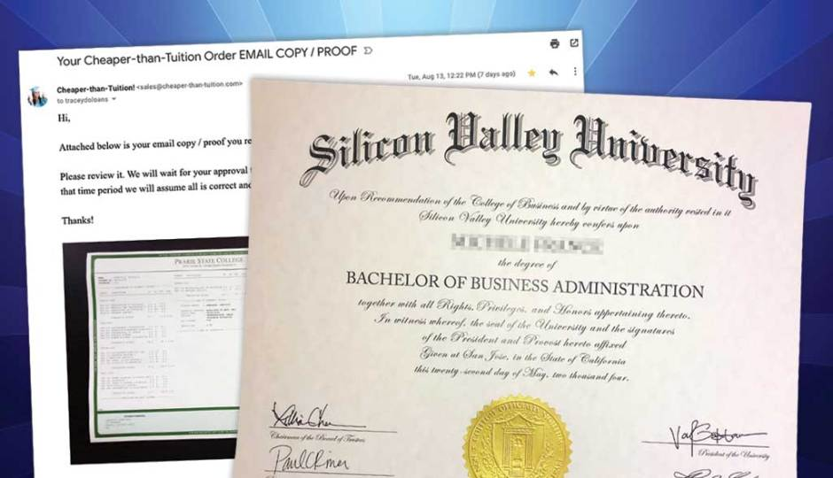 Fake Diploma Digital Copy/Proof By Email