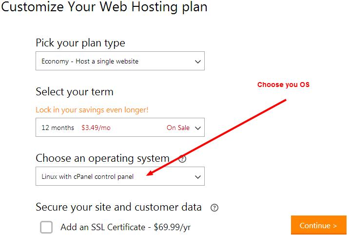 1$ hosting
