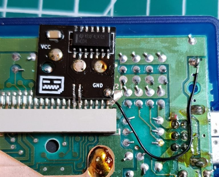 installed bivert chip GAME BOY