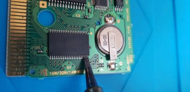 game boy rom solder
