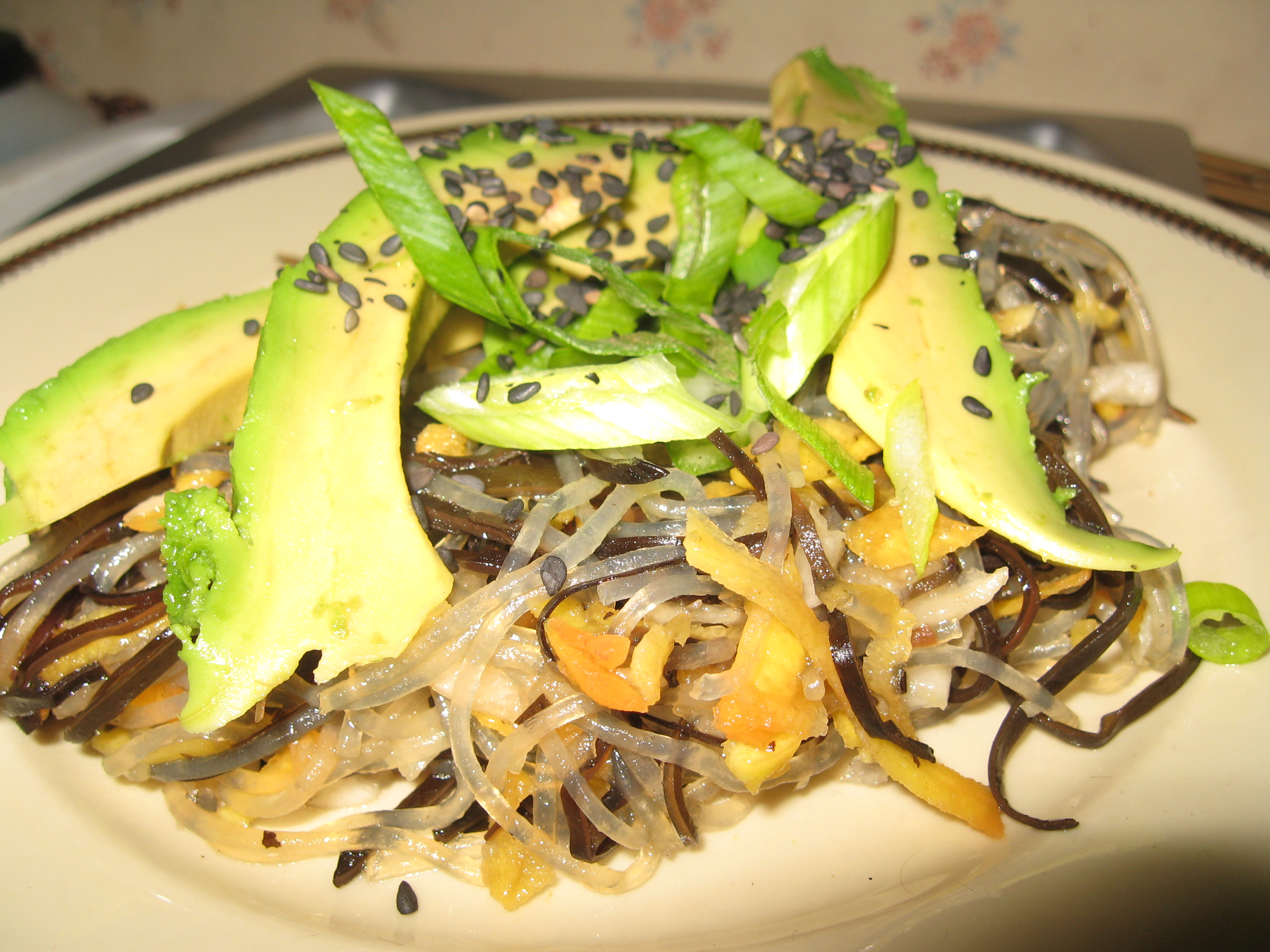 Seaweed and Bean Thread Noodle Salad with Avocado