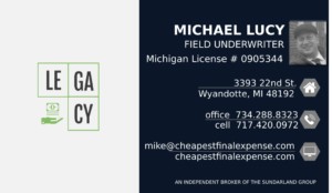 Mike, Michigan Final Expense Insurance Advisor, Agent and Broker