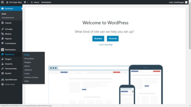 Como crear mi propio blog en WordPress