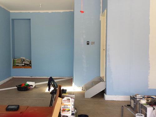 Pintando el garaje