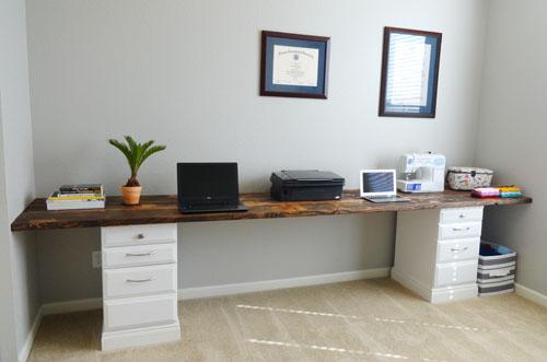 Escritorio de oficina en casa