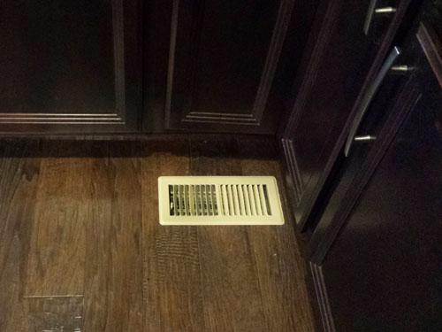 Rejilla de ventilación en la cocina