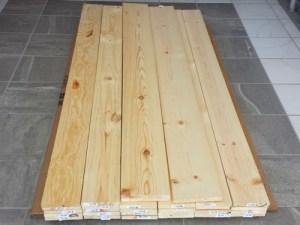 La madera que usamos para construir la mesa de centro