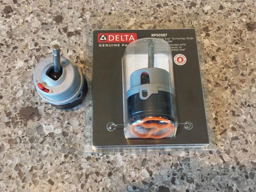 Reemplazo de cartucho de grifo monomando de cocina Delta